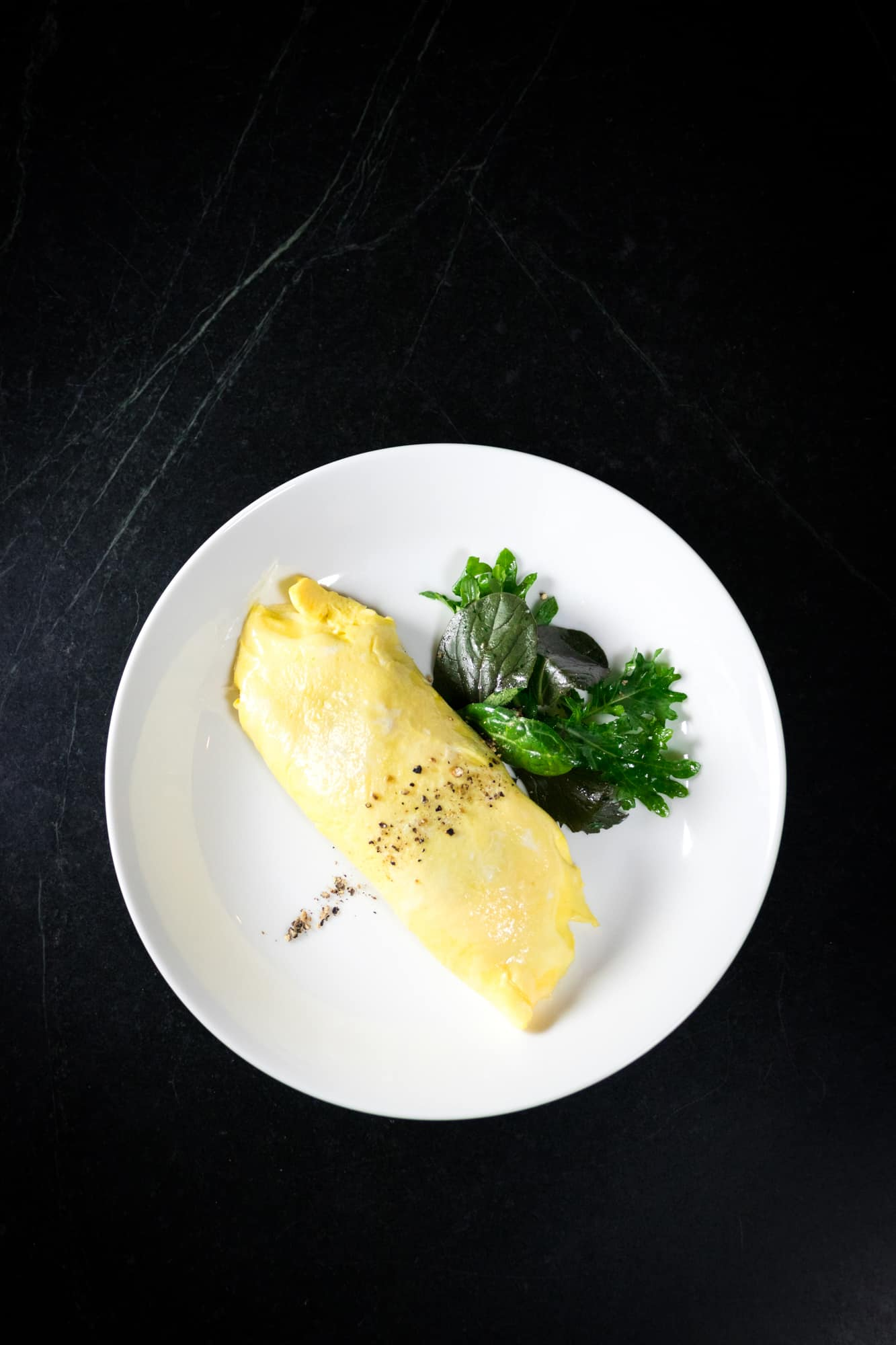 Omelettes with Spring Onion, Goat Cheese and Thyme