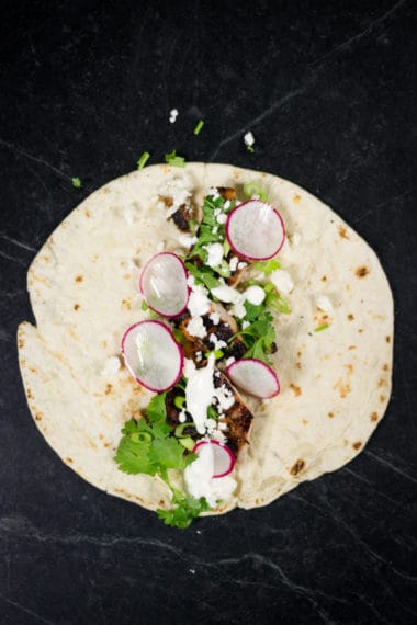Plating the Tacos