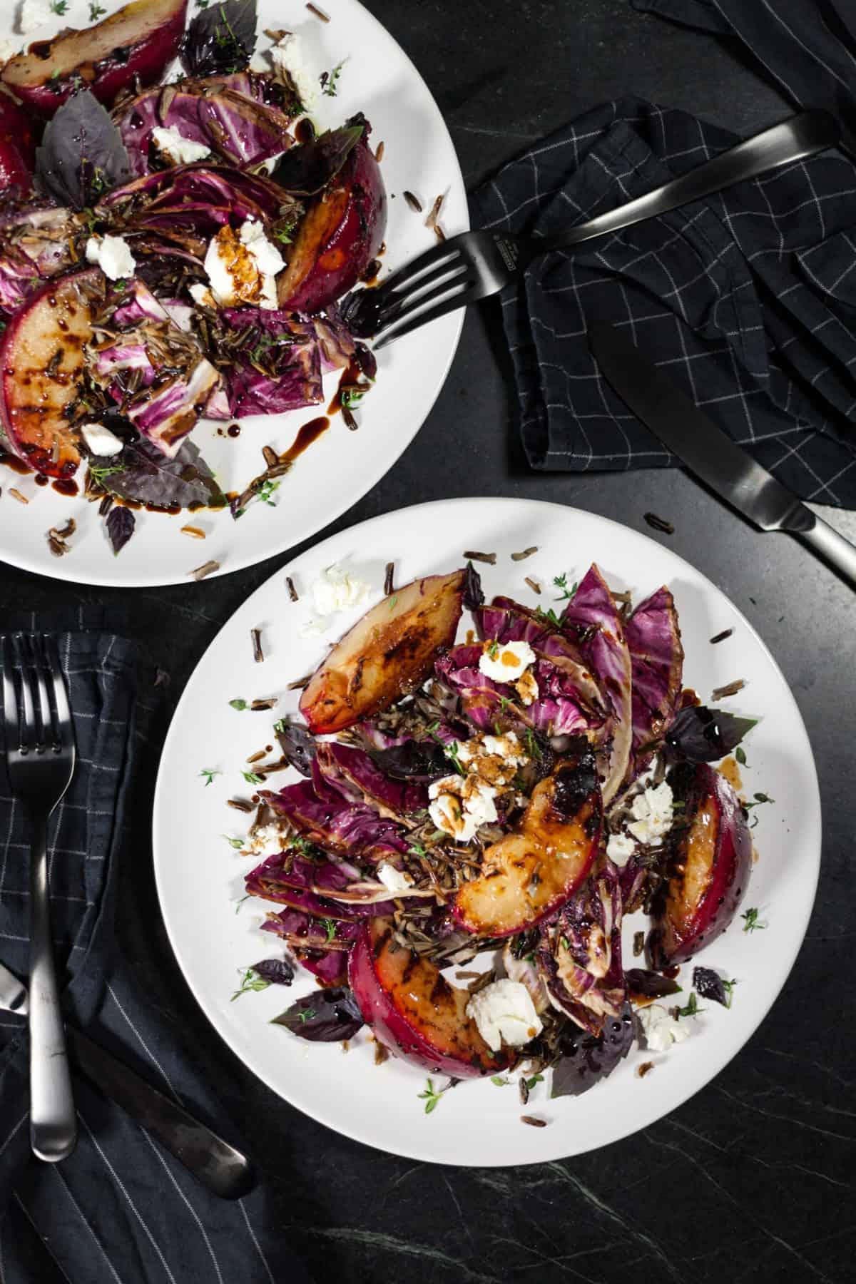 Grilled Radicchio Plum Salad