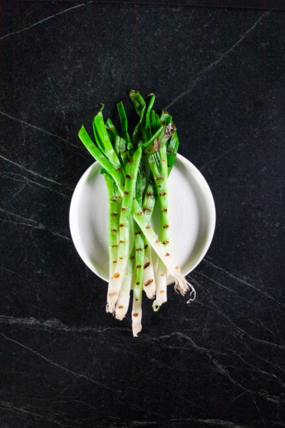 Grilled Scallions