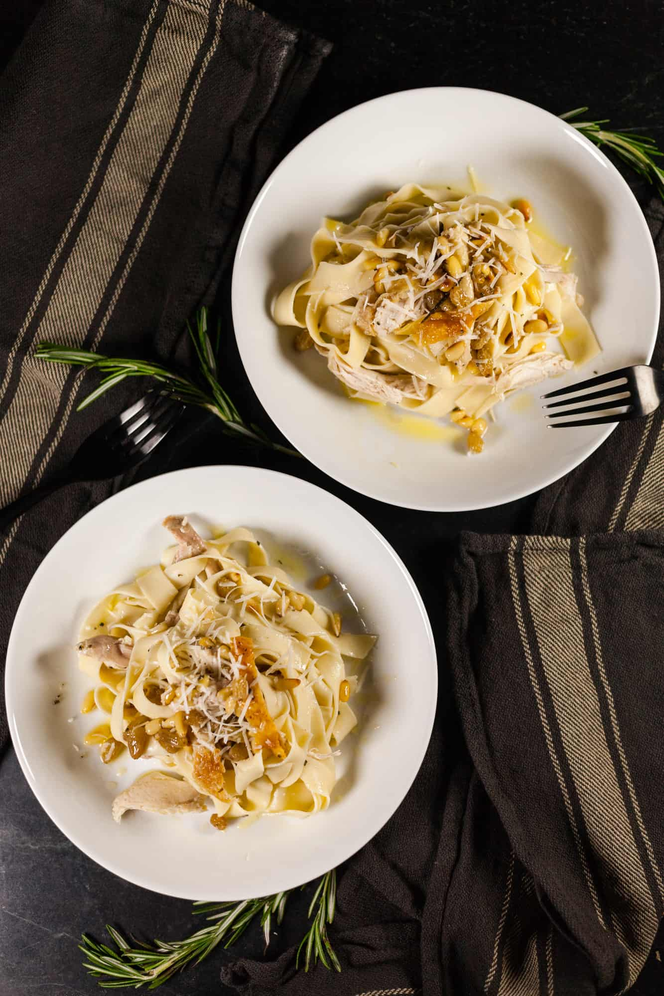 Roasted Chicken Tagliatelle