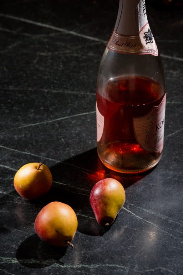 Rosé Poached Pears