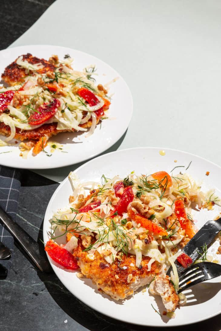 Chicken Cutlet with Fennel Salad