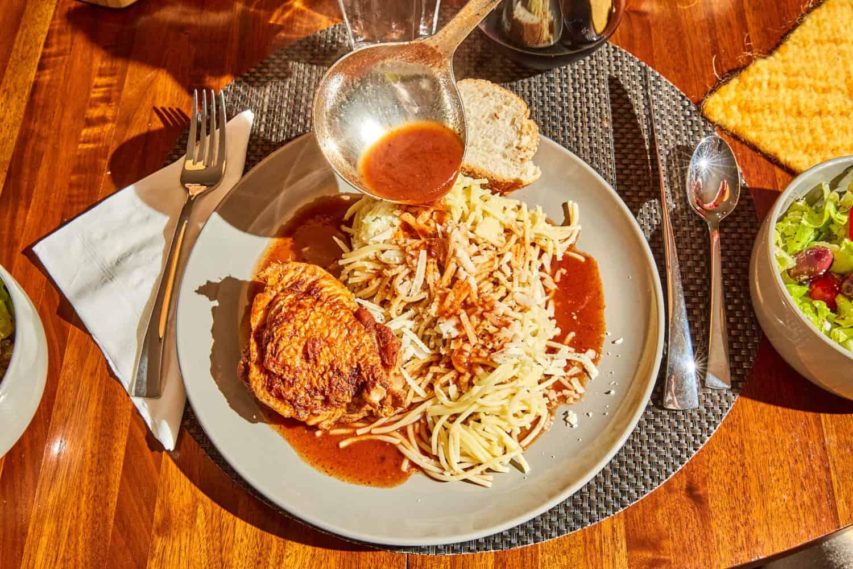 Kota Kapama - Greek Chicken Stew with Cinnamon and Cloves