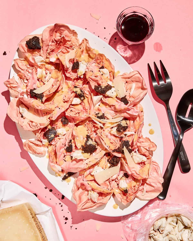 Pink Crab Caesar Salad