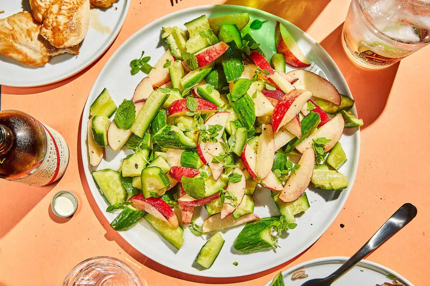 Cucumber and Peach Salad