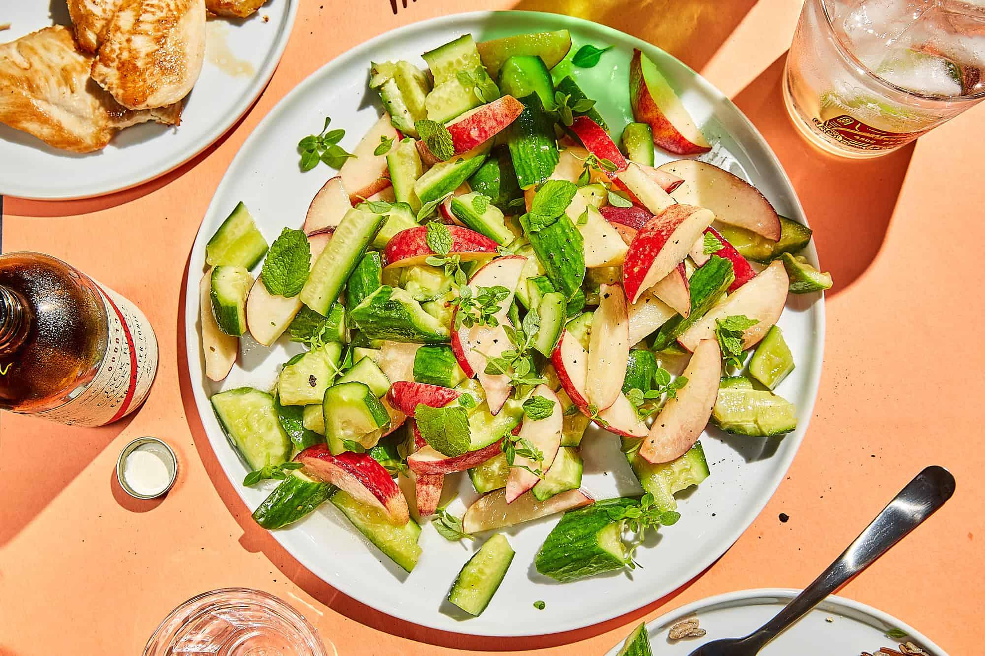 Cucumber and Peach Salad