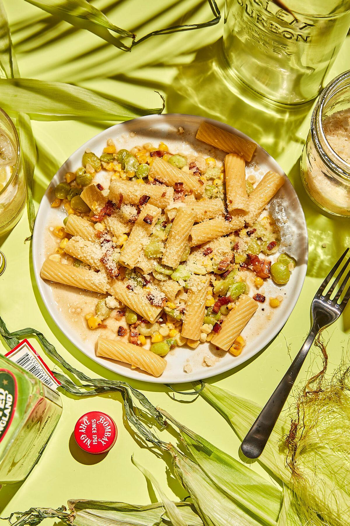 Corn and Lima Alla Gricia
