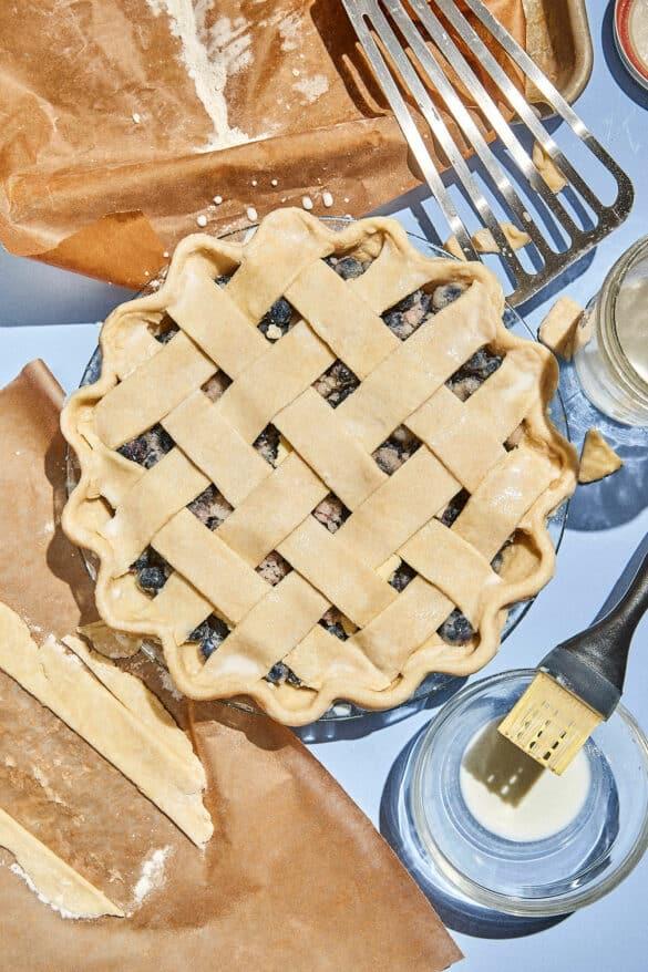 Blueberry Pie Lattice Top